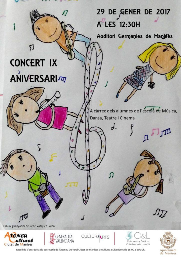 cartel concierto aniversario
