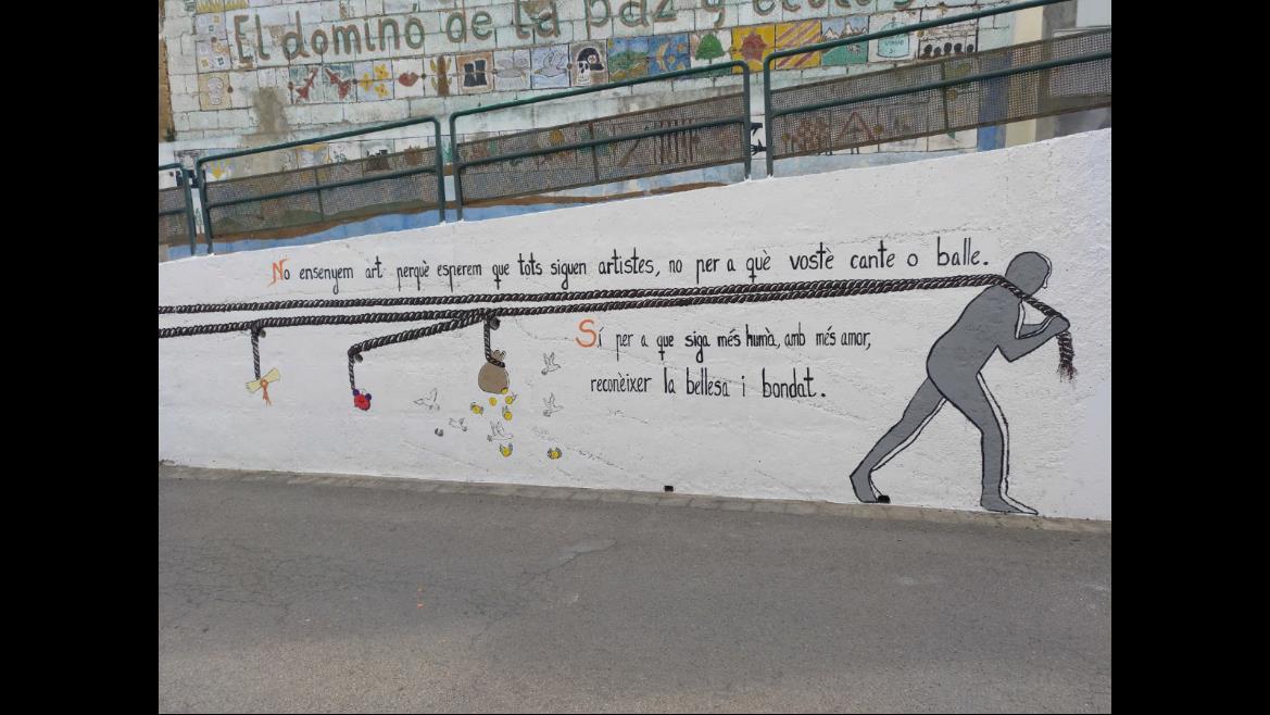 Mural Fundación Movimiento Ciudadano. Ateneu Cultural Ciutat de Manises.